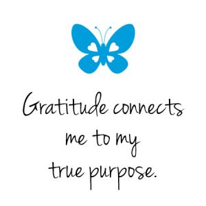 Gratitude connects me to my true purpose.
